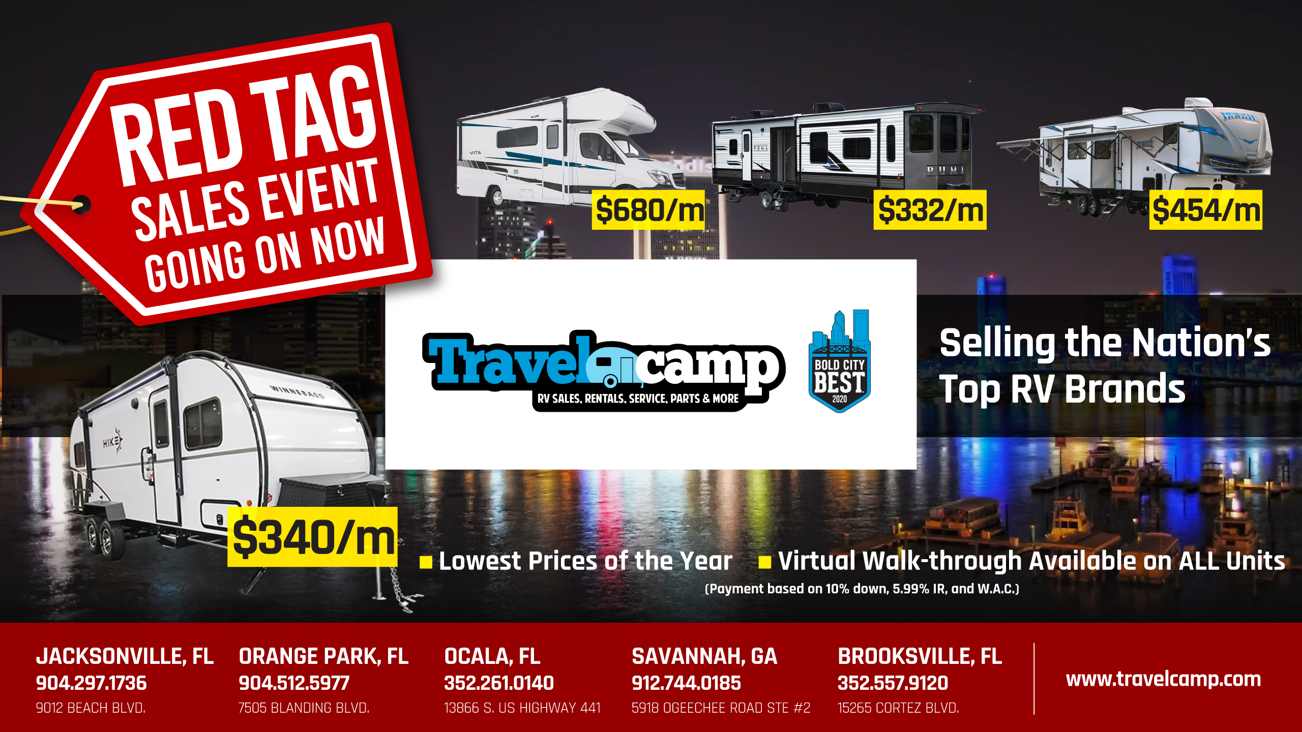 Red Tag Sales Event   Travelcamp