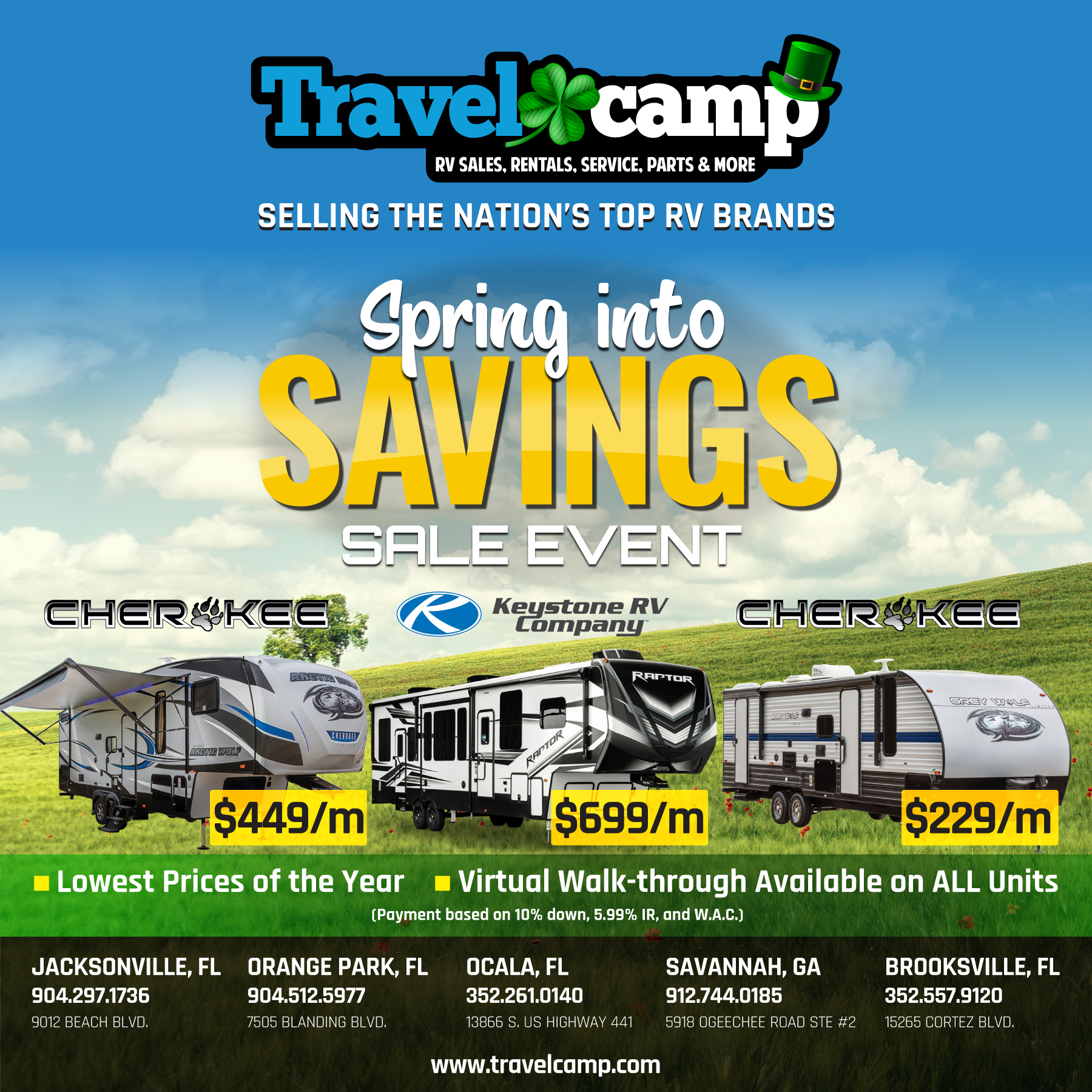 Spring Sale Event | Save Even More | Travelcamp